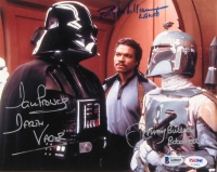 Dave Prowse, Billy Dee Williams & Jeremy Bulloch Signed Star Wars 8x10 Photo (Beckett LOA & PSA)