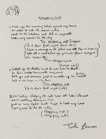 "John Lennon ""Stepping Out"" 9.5x12.5 Limited Edition Lyrics Serigraph"
