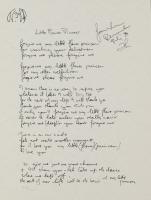 "John Lennon ""Little Flower Princess"" 9.5x12.5 Limited Edition Lyrics Serigraph"