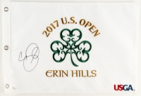 Jason Day Signed 2017 U.S. Open Erin Hills 13.5x20 Pin Flag (JSA COA)