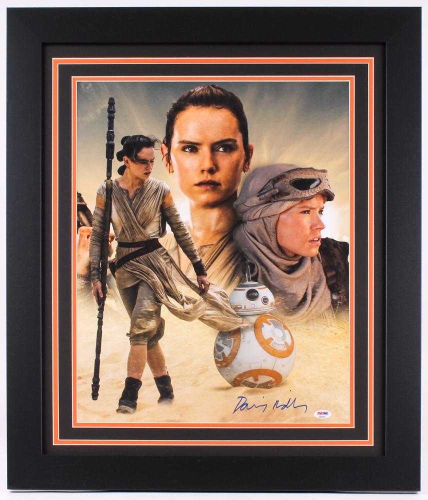 Daisy Ridley Signed Star Wars 11x14 Photo - Rey Beckett