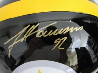 James Harrison Signed Steelers Full-Size Helmet (JSA COA)