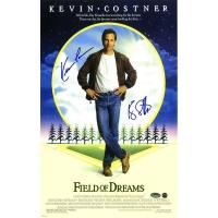 Kevin Costner & Ray Liotta Signed Field of Dreams 11x17 Photo (Schwartz COA & Steiner COA)