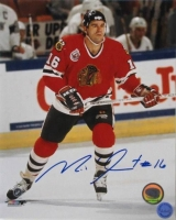 Michel Goulet Signed Blackhawks 8x10 Photo (SI COA) at PristineAuction.com