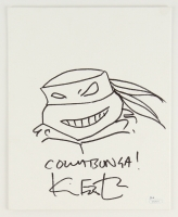 Kevin Eastman Signed 'Teenage Mutant Ninja Turtles' Original Hand-Drawn Sketch on 8x10 Canvas (JSA COA)