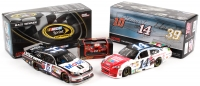 Lot of (3) Tony Stewart NASCAR Die-Cast Cars with (2) 2012 1:24 Scale Chevy Impalas & (1) Signed 1998 1:64 Scale Car Box (JSA COA)