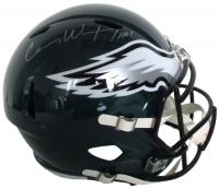 Carson Wentz Signed Eagles Full-Size Speed Helmet (Fanatics)