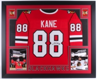 Patrick Kane Signed Blackhawks 35x43 Custom Framed Jersey (JSA COA) at PristineAuction.com