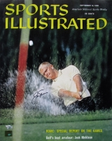 Jack Nicklaus Signed Vintage 1960 Sports Illustrated Magazine Cover 16x20 Photo (Nicklaus Hologram & Fanatics COA)