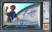 2011 Bowman Platinum Prospect Autograph Refractors #BH Bryce Harper (BGS 9)