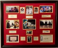 1978's Superman Cast 30x36 Custom Framed Cut Display Signed by (12) with Christopher Reeve, Gene Hackman, Margot Kidder (JSA LOA, JSA COA & PSA Encapsulated)