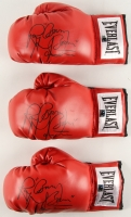 """Lot of (3) Ray """"Boom Boom"""" Mancini Signed Boxing Gloves (TPL Hologram)"""