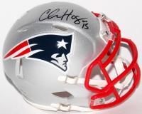Chris Hogan Signed Patriots Super Bowl LI Mini Speed Helmet (JSA COA)