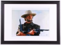 "Clint Eastwood Signed ""The Outlaw"" 22.75x30.75 Custom Framed Photo Display (PSA LOA)"