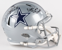 Dak Prescott, Ezekiel Elliott & Cole Beasley Signed Cowboys Full-Size Speed Helmet (JSA, Prescott & Fanatics Holograms)