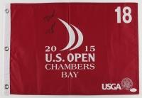 Jordan Spieth Signed 2015 U.S. Open Golf Pin Flag (JSA LOA)