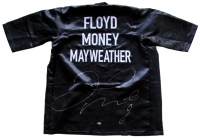 Floyd Mayweather Jr. Signed Boxing Robe (Beckett COA)