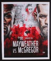 Floyd Mayweather Jr. Signed 19.5x24 Photo on Canvas (Beckett COA)