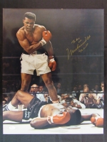 Muhammad Ali Signed 16x20 Photo with Inscription (JSA Hologram)