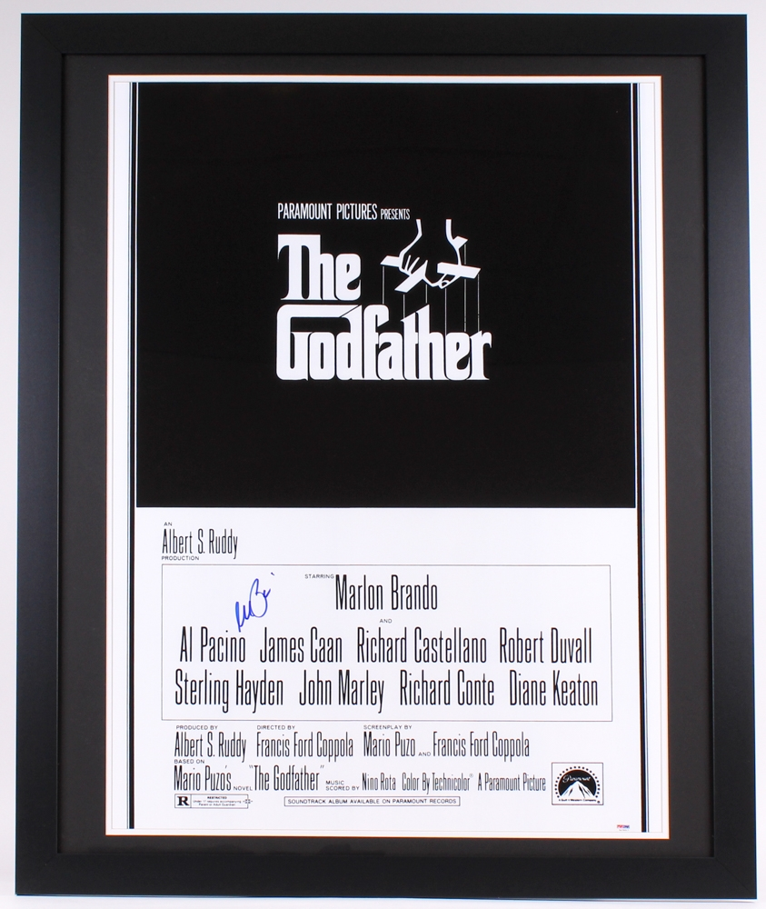 Online sports memorabilia auction pristine auction al pacino signed the godfather 35x43 custom framed movie poster psa coa jeuxipadfo Choice Image