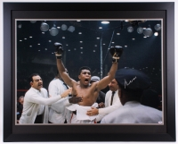 "Muhammad Ali Signed 35.5"" x 43.5"" Custom Framed Photo (PSA)"