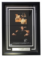 "Al Pacino Signed ""The Godfather Part II"" 17x24 Custom Framed Movie Poster Display (Beckett Hologram)"