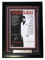 "Al Pacino Signed ""Scarface"" 17x24 Custom Framed Movie Poster Display (Beckett Hologram)"