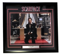 "Al Pacino Signed Scarface ""Say Hello To My Little Friend"" 22"" x 27"" Custom Framed Photo Display (Beckett COA)"
