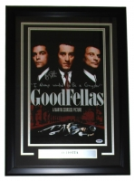 """Ray Liotta Signed """"Goodfellas"""" 18"""" x 25"""" Custom Framed Movie Poster Display Inscribed """"I Always Wanted To Be A Gangster"""" (PSA COA)"""