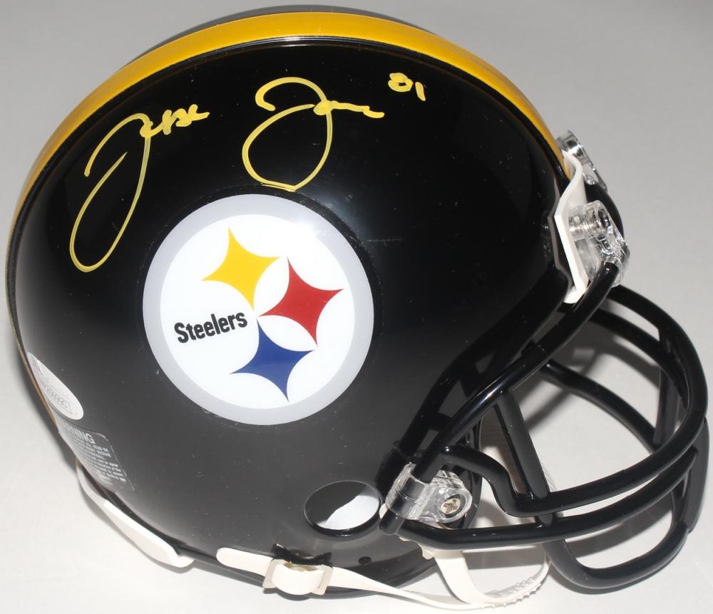 00a779bc371 Jesse James Signed Steelers Mini-Helmet (JSA COA) at PristineAuction.com