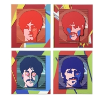 "The Beatles ""Sea of Science Experience"" Set of 4 Limited Edition 28x31 Giclees on Gallery Wrapped Canvas"