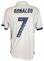 Cristiano Ronaldo Signed Real Madrid Authentic Adidas Soccer Jersey (PSA COA)