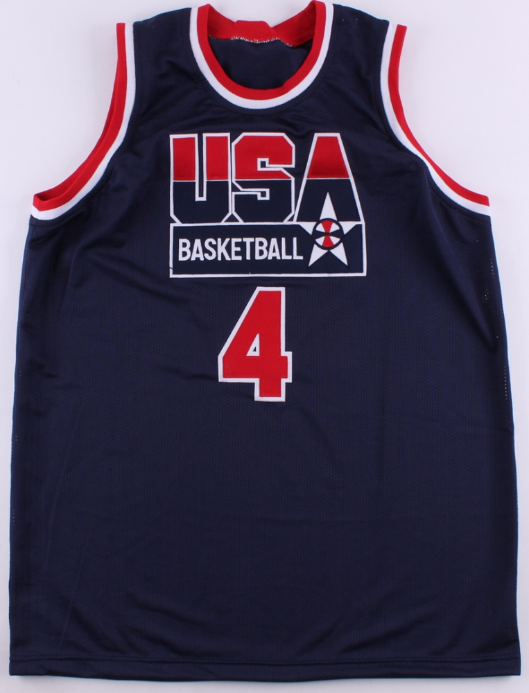 715dd3c15fe Christian Laettner Signed Team USA Jersey (JSA COA) at PristineAuction.com
