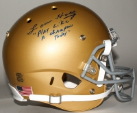 "Lou Holtz Signed Notre Dame Fighting Irish Full-Size Helmet Inscribed ""Play Like a Champion Today"" (JSA COA)"