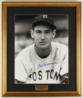 "Ted Williams Signed Red Sox 21.75"" x 25.75"" Custom Framed Photo Display (Ted Williams COA & PSA LOA) at PristineAuction.com"