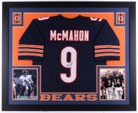 "Jim McMahon Signed Bears 35"" x 43"" Custom Framed Jersey (JSA COA)"