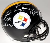Steelers Legends Full-Size Helmet Signed by (6) with Jack Ham, Mike Wagner, Rocky Bleier, & Franco Harris (TSE COA)