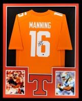 Peyton Manning Signed Tennessee Volunteers 34x42 Custom Framed Jersey (Radtke COA)