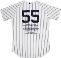 Hideki Matsui Signed LE  Career Highlight Stat Jersey (Steiner COA & MLB Hologram) at PristineAuction.com