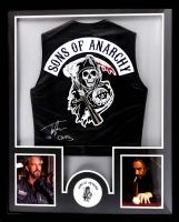 """Tommy Flanagan Signed """"Sons of Anarchy"""" 34x42 Custom Framed Vest Inscibed """"Chibs"""" (Radtke COA)"""