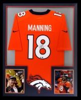Peyton Manning Signed Broncos 34x42 Custom Framed Jersey (Radtke COA)