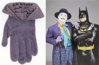 "Jack Nicholson Signed & Screen Worn Glove as ""The Joker"" from Batman (1989) (Assistant Provenance LOA & PSA LOA)"