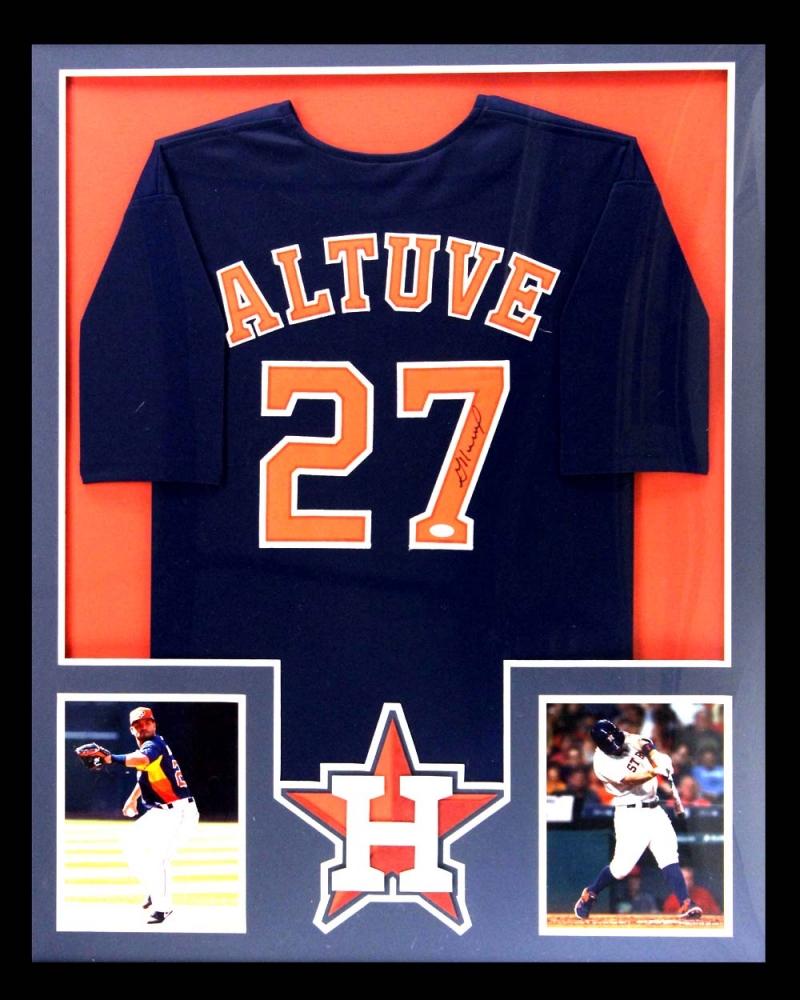 ac6171ad7de Jose Altuve Signed Astros 34x42 Custom Framed Jersey (Radtke COA)
