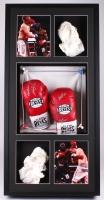 "Kimbo Slice Signed 22x44.5x6.5 Custom Framed Fight Worn Boxing Glove Shadowbox Display Inscribed ""Fight Worn"" (JSA ALOA)"
