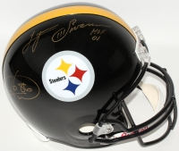 "Hines Ward & 	Lynn Swann Signed Steelers Full-Size Helmet Inscribed ""HOF 01"" (JSA) at PristineAuction.com"