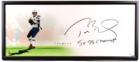 "Tom Brady Signed Patriots ""The Show"" 20"" x 46"" LE Custom Framed Lithograph Inscribed ""5x SB Champ"" (UDA COA)"