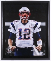 "Tom Brady Signed Patriots 38"" x 46"" Custom Framed Photo Display (Steiner COA & TriStar Hologram)"