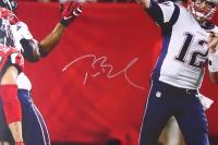 "Tom Brady Signed Patriots 46"" x 56"" Limited Edition Custom Framed Photo Display (Steiner COA & TriStar Hologram) at PristineAuction.com"