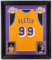 Chevy Chase Signed Lakers 31.5x36.5 Custom Framed Jersey (PSA COA)