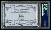 2011 Donruss Limited Cuts 1 #48 Buzz Aldrin / 1 (PSA Encapsulated) at PristineAuction.com